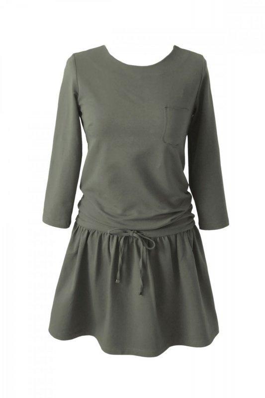 Sukienka o sportowym kroju Anette - Khaki - StreetStyle 271