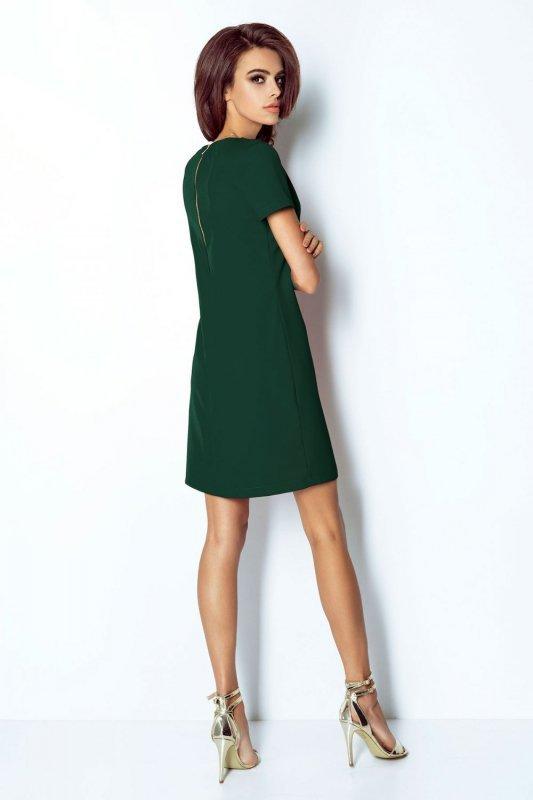 Elegancka klasyczna sukienka Matilda - Zielona - StreetStyle 409