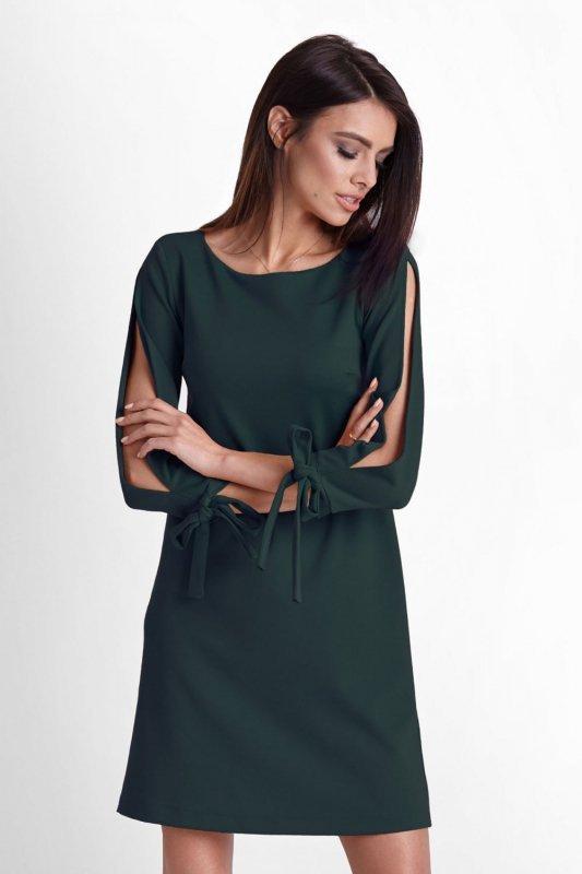 Trapezowa sukienka Diva - Zielona - Ivon