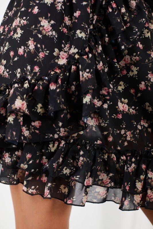 Krótka spódniczka z jedwabiem i falbanami -StreetStyle LG520 - druk 16