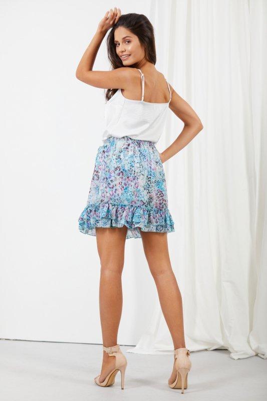 Krótka spódniczka z jedwabiem i falbanami -StreetStyle LG520 - druk 14