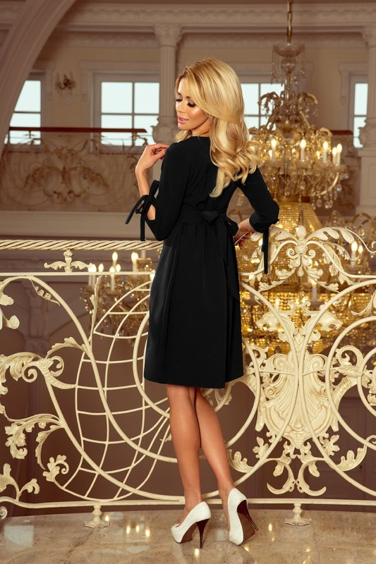 Sukienka z kokardkami Alice - Czarna