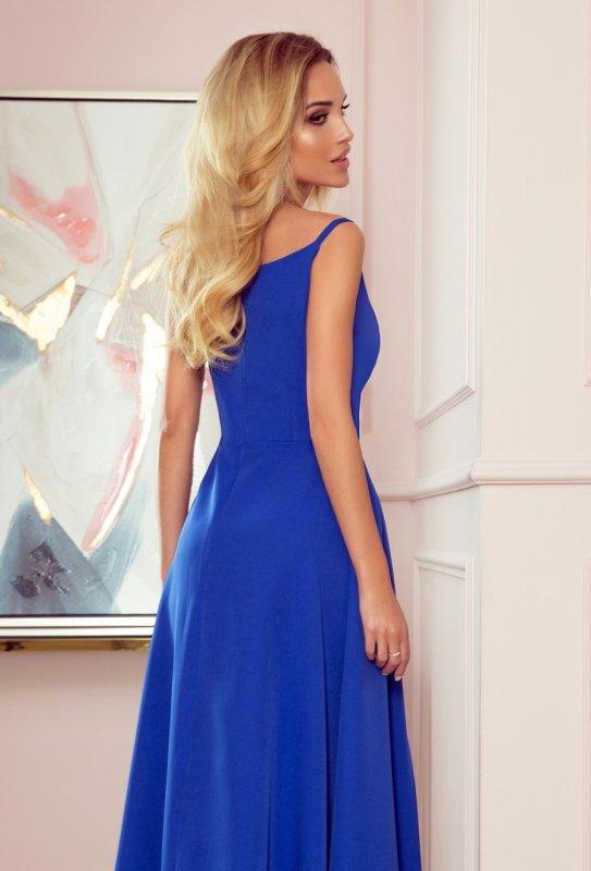 CHIARA elegancka maxi suknia na ramiączkach - CHABROWA - 4