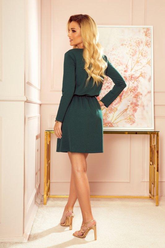NANCY Sukienka z zamkiem - zieleń butelkowa -2