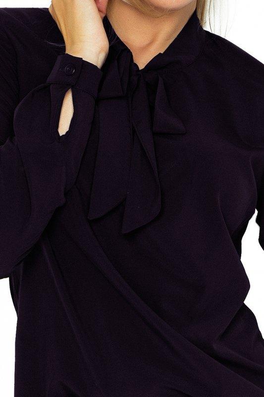 Bluzka z wiązaniem z przodu - Czarna - numoco 140-5