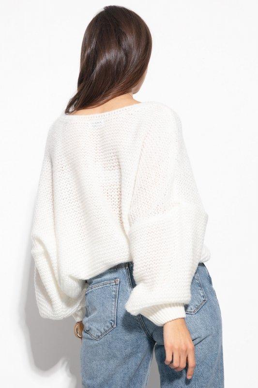Luźny sweter o oversizowym kroju - F1102-orange-1