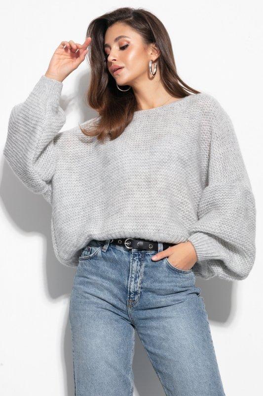 Luźny sweter o oversizowym kroju - F1102-orange-3