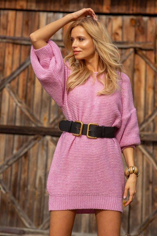 Dzianinowa sukienka-F1105-lilac-3