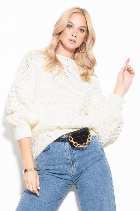 Sweter Chunky Knit F1125 - Ecru -1