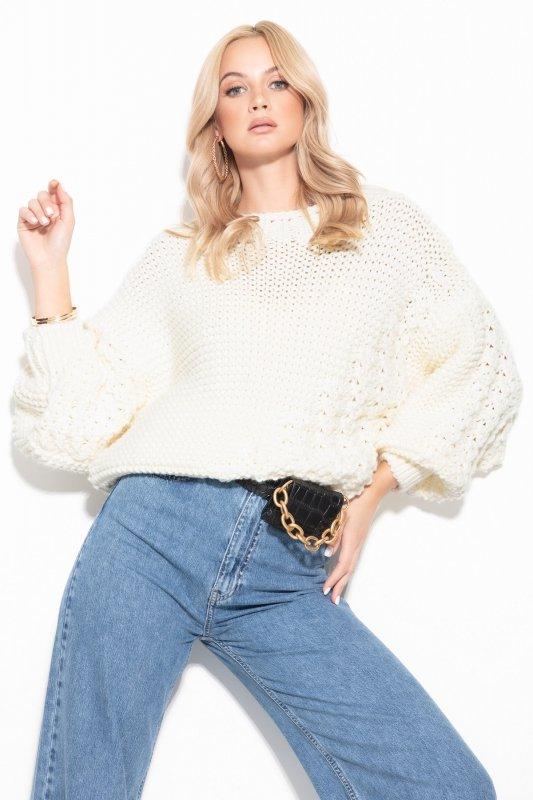 Sweter Chunky Knit F1125 - Ecru -3