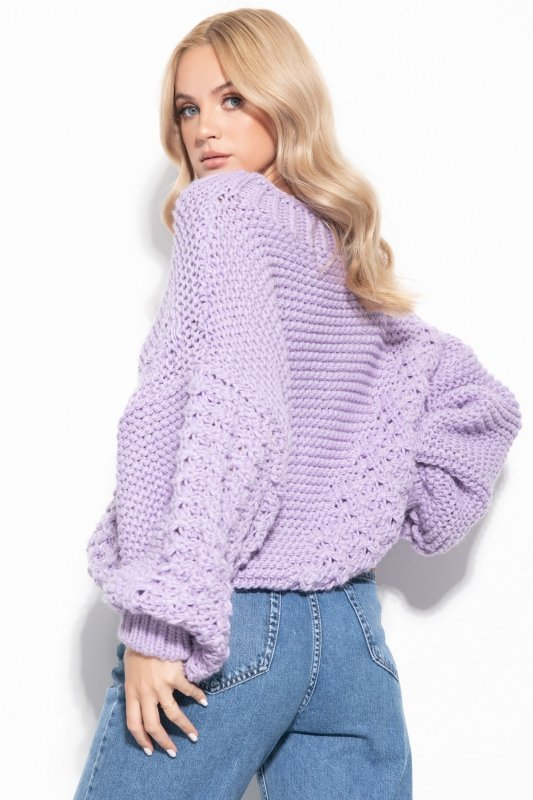Sweter Chunky Knit F1125 - Fiolet -5