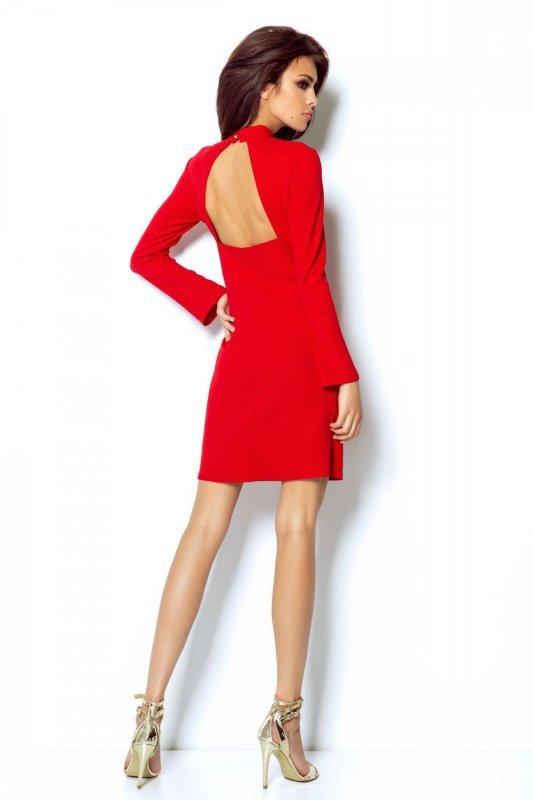 Dopasowana Sukienka Giselle - Czerwona - Ivon