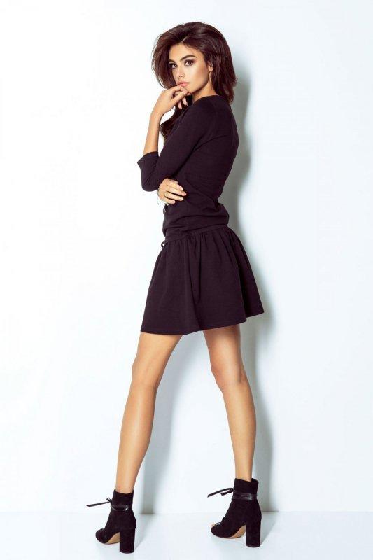 Sportowa sukienka Anette - Czarna - StreetStyle 272