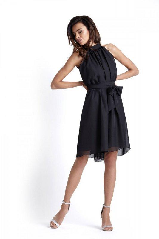 Zwiewna szyfonowa sukienka Livia - Czarna - StreetStyle 387