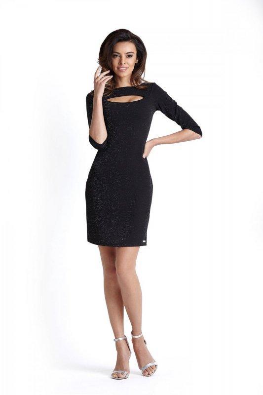 Połyskująca sukienka Erica - Czarna - Ivon