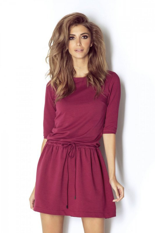 Sukienka Nathalie - Bordowa - Ivon