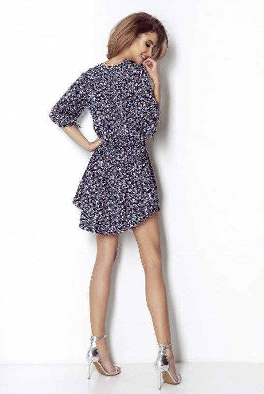 Zwiewna sukienka oversize Spring - Niebieska - StreetStyle 525