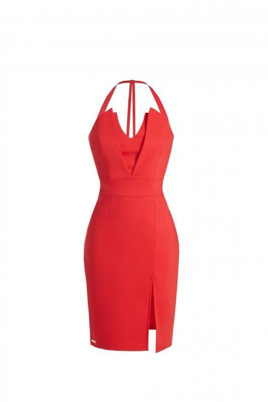 Dopasowana sukienka Niki - Czerwona  - Ivon