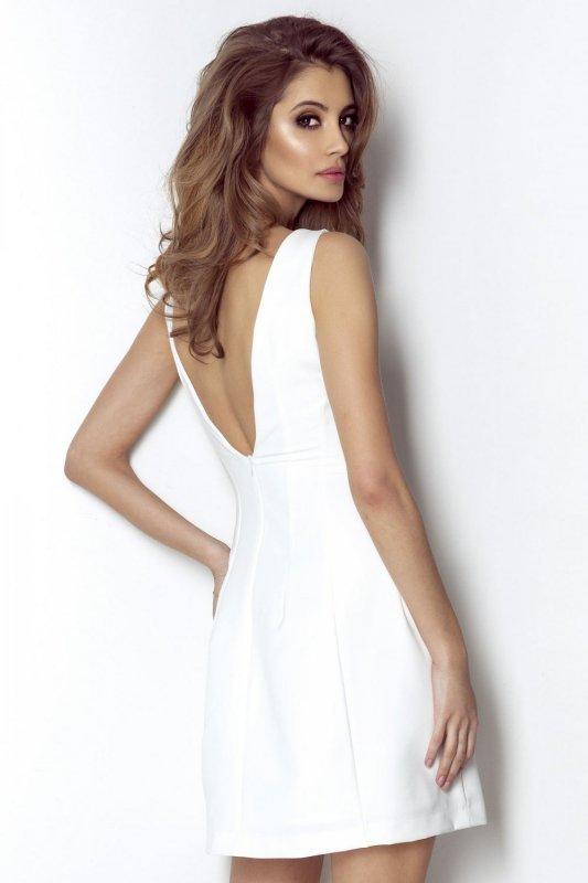 Elegancka sukienka April - Śmietanka - Ivon