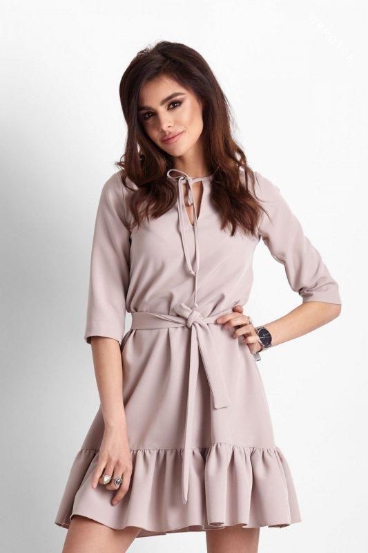 Sukienka Elvira - Beżowa - StreetStyle 638