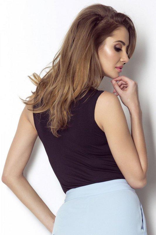 Koszulka typu crop top Lola - Czarna - Ivon