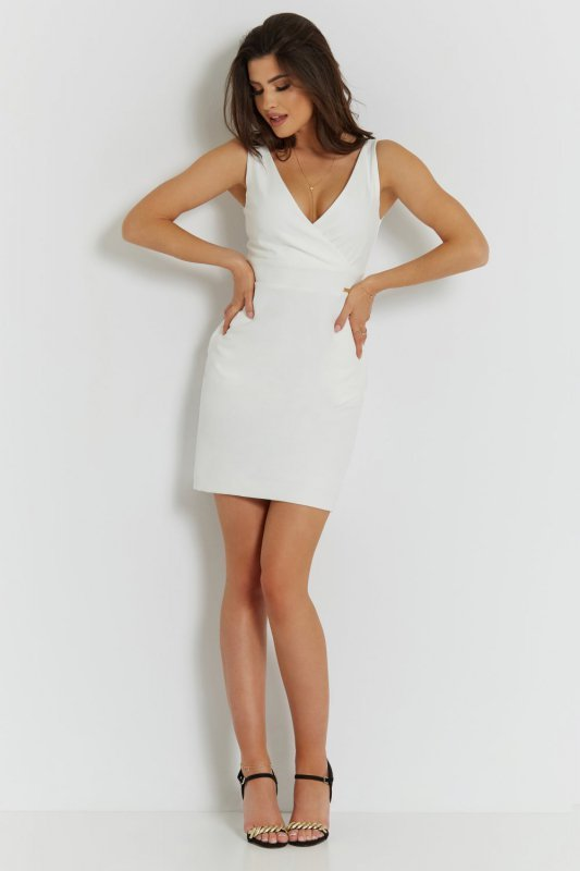 Klasyczna sukienka Paola - Śmietankowa