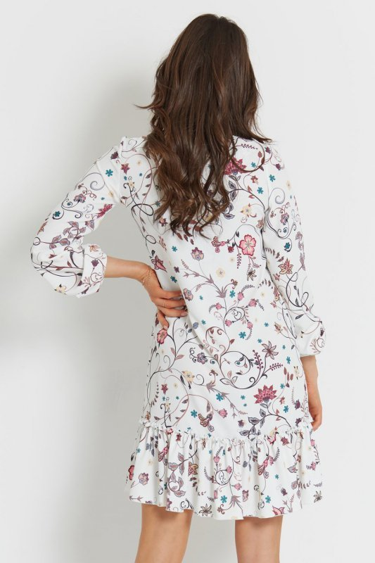 Sukienka Irina boho - Biała