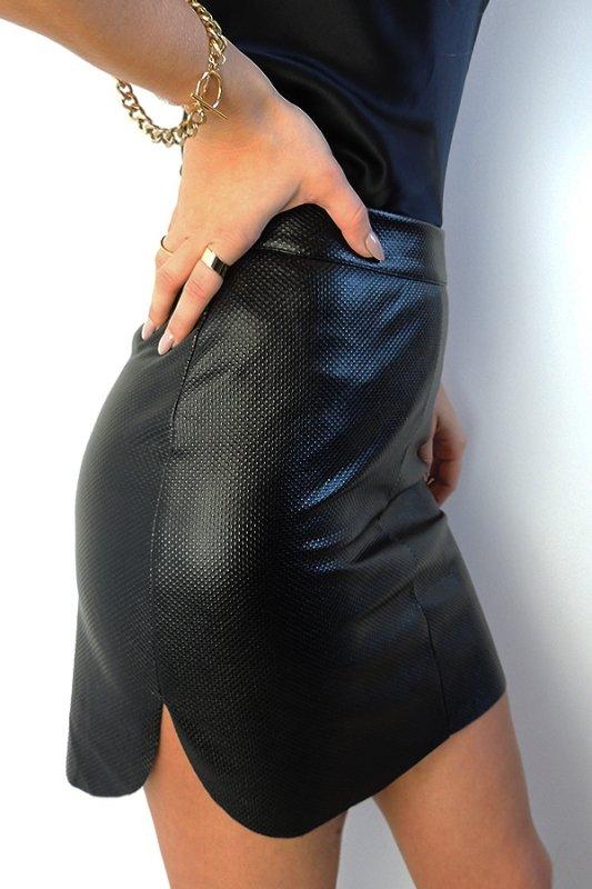 Mini spódnica Iga z zaokrąglonymi bokami - 1