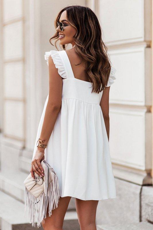 NOEL sukienka mini o lekko oversizowym kroju - Cream_1