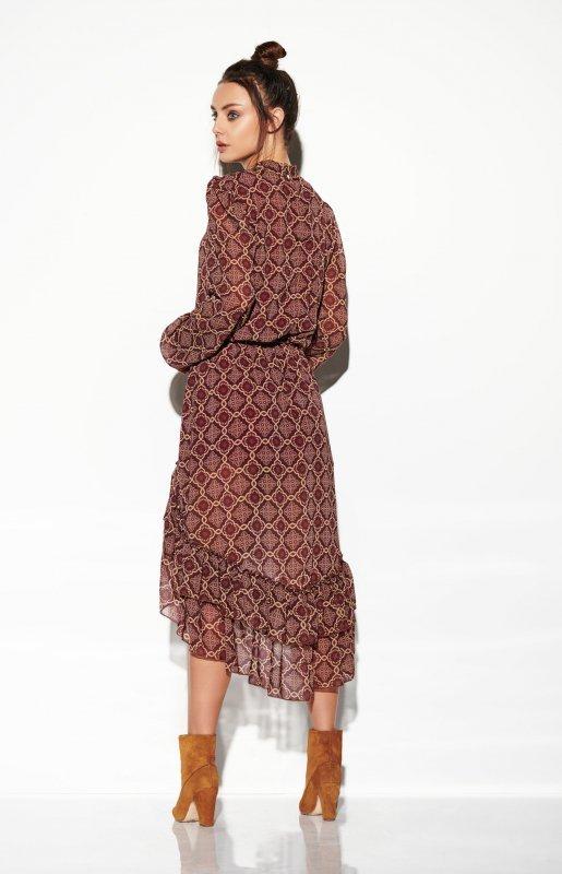 Sukienka z jedwabiem i krótszym przodem -StreetStyle LG504 - druk 7