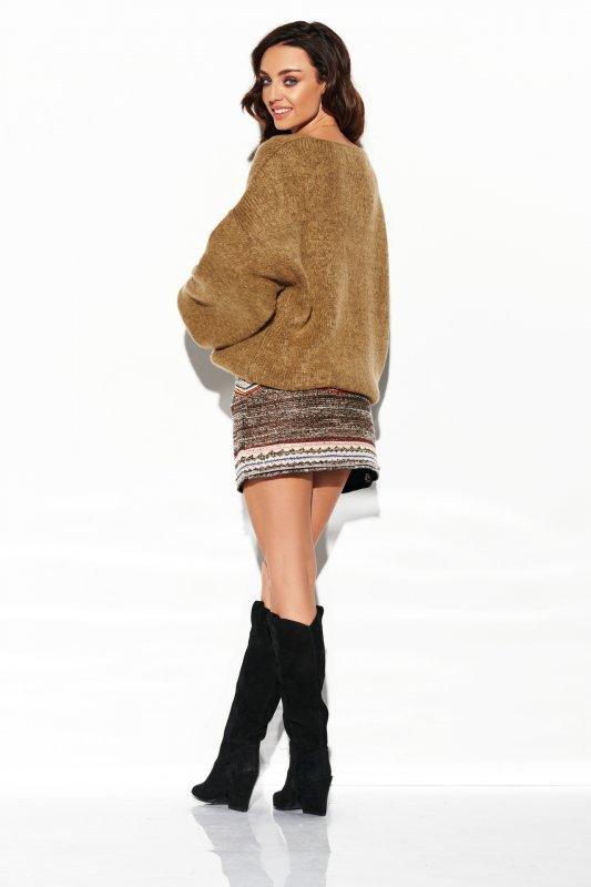 Sweter z dużym dekoltem - StreetStyle LSG111- capucino- 4