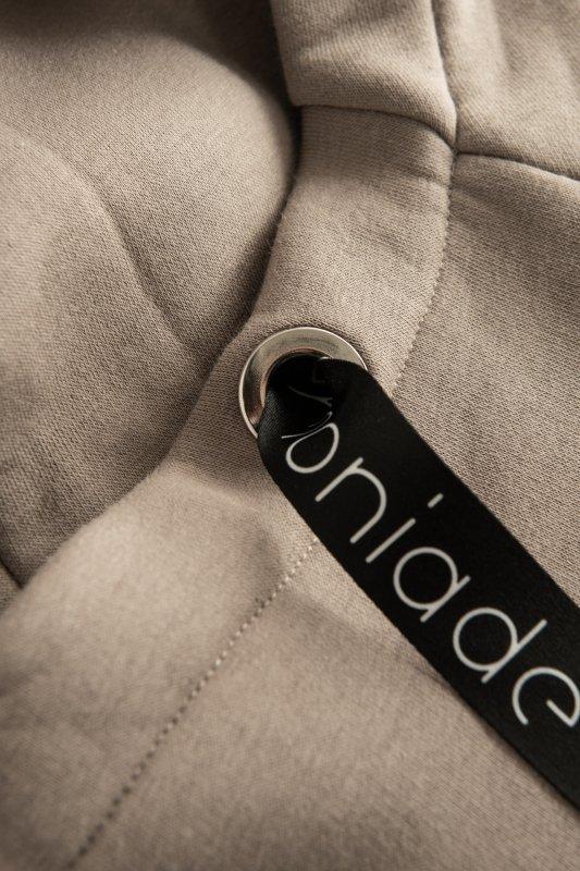Bawełniana sukienka/bluza z falbaną LN119 - capucino - 3