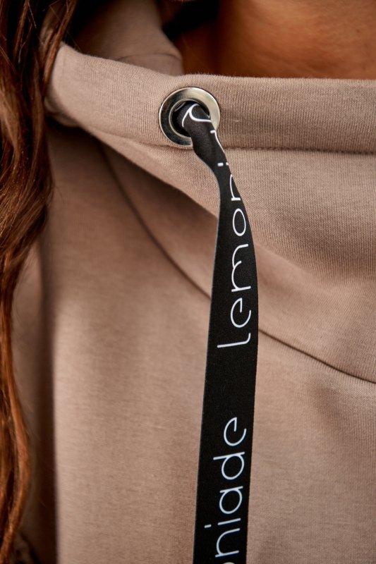 Bawełniana sukienka/bluza z falbaną LN119 - capucino - 12