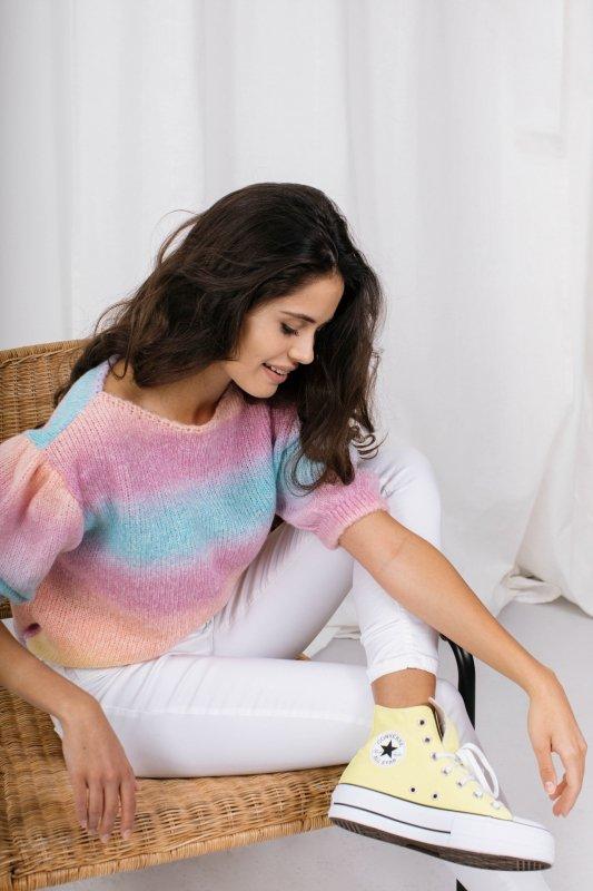 Pastelowy Sweter Tęcza - LS336 - 5