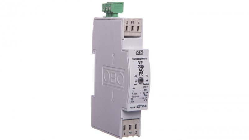 Ogranicznik przepięć dla systemów dwużyłowych 255VAC 2,5kA 1,4kV VF230 AC-FS 5097858