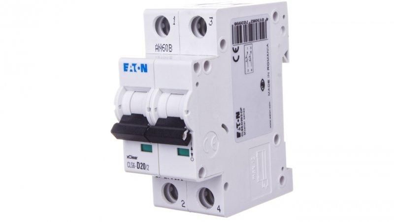 EATON Wyłącznik nadprądowy 2P D 20A 6kA AC CLS6-D20/2-DP 270399