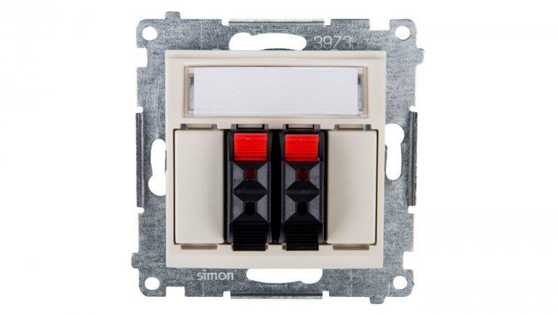 Simon 54 Gniazdo głośnikowe podwójne kremowe DGL32.01/41