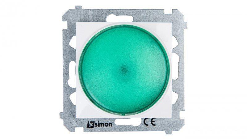 Kontakt Simon 54 Sygnalizator świetlny LED zielone światło biały DSS3.01/11
