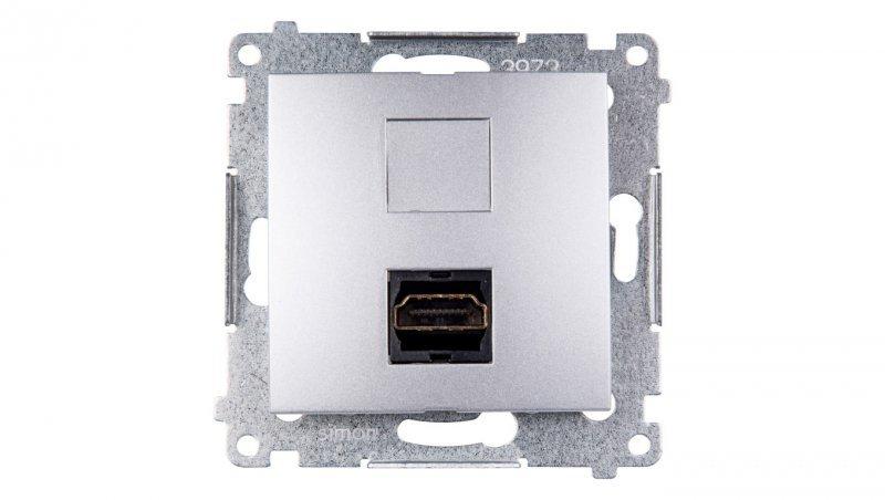 Kontakt Simon 54 Gniazdo HDMI srebrny mat DGHDMI.01/43