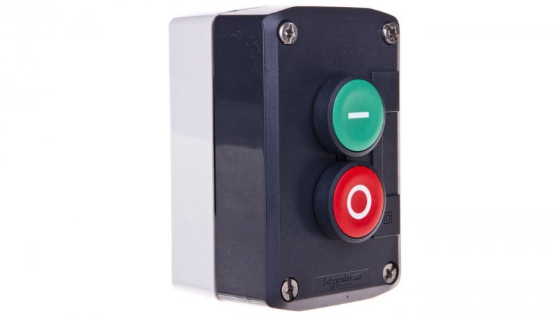 Schneider Kaseta sterownicza 2-otworowa z przyciskami zielony/czerwony IP65  XALD213