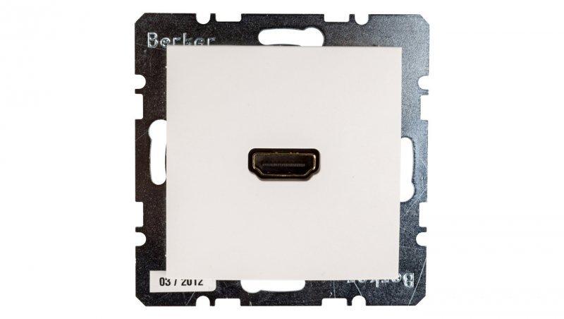 Berker/B.Kwadrat Gniazdo HDMI śnieżnobiale połysk S.1/B.3/B.7 Glas 3315428989
