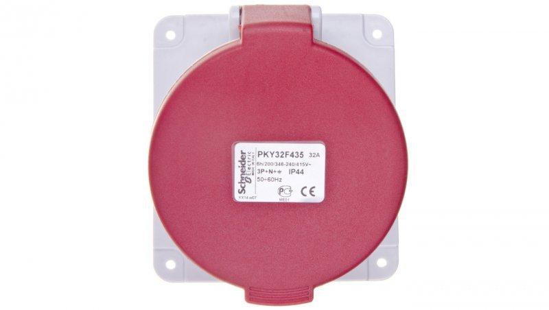 Gniazdo tablicowe 5P 32A 400V czerwone IP44 PKY32F435