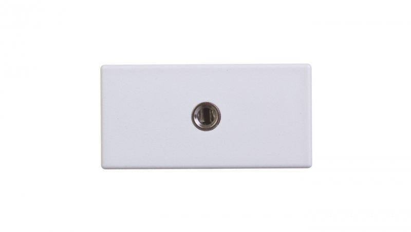 Simon Connect Gniazdo K45/2 audio żeńskie 3,5mm stereo mini-jack czysta biel K123B/9