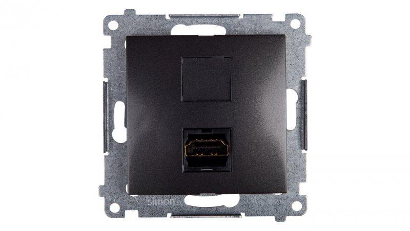 Simon 54 Gniazdo HDMI antracyt DGHDMI.01/48