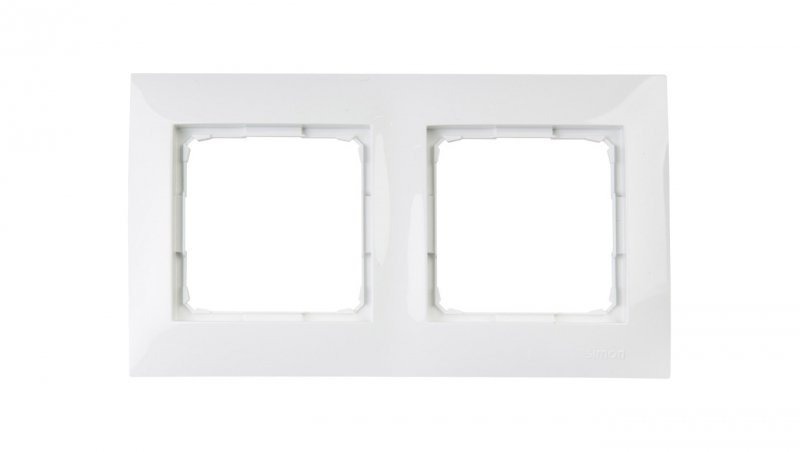 Simon 54 Premium Ramka podwójna biała DR2/11