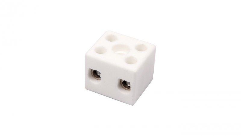Złączka gwintowa porcelanowa 10mm2 2-tory biała CPO-15A-2P 80722516 /20szt./