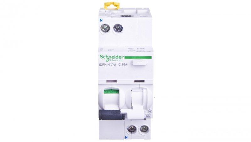 Wyłącznik różnicowo-nadprądowy 2P 16A C 0,03A typ A iDPN N VIGI A9D32616