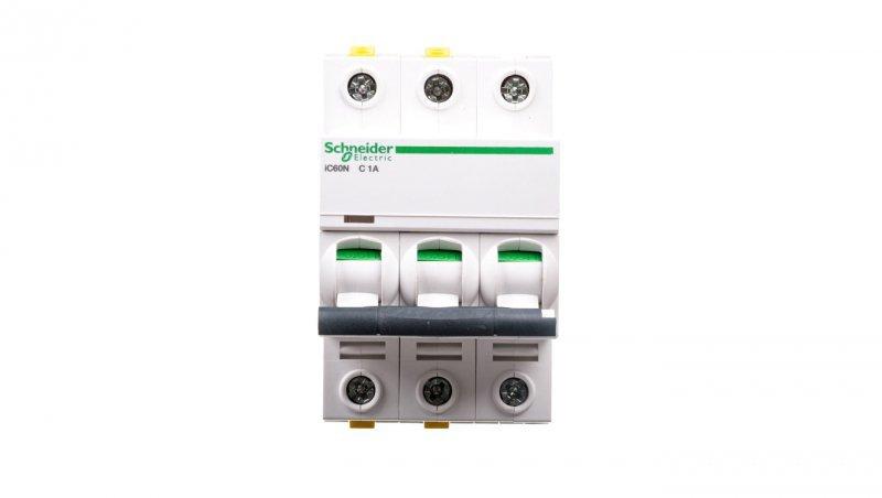Wyłącznik nadprądowy 3P C 1A 6kA AC iC60N-C1-3 A9F04301