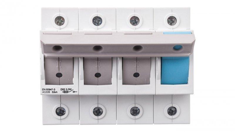 Rozłącznik bezpiecznikowy 3P+N 63A D02 L76M