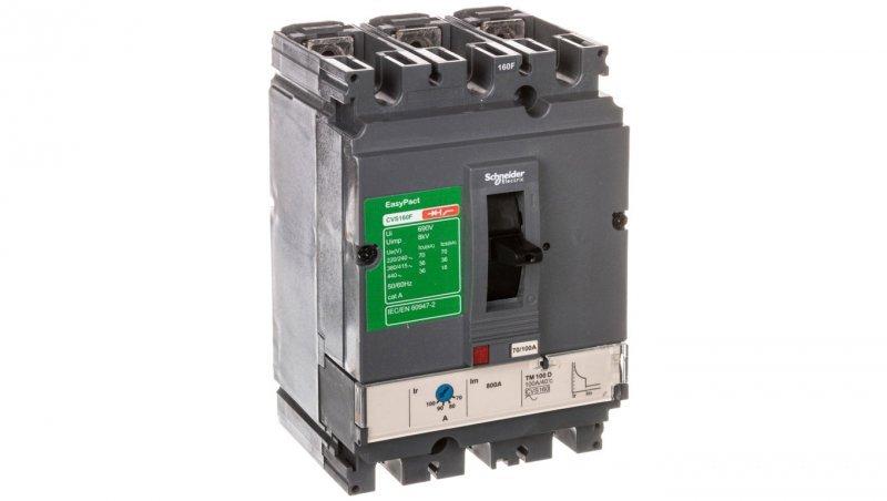 Wyłącznik mocy 100A 3P 36kA EasyPact CVS160 TM100D LV516331